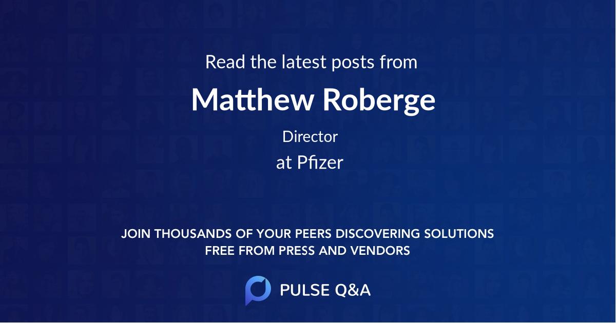 Matthew Roberge