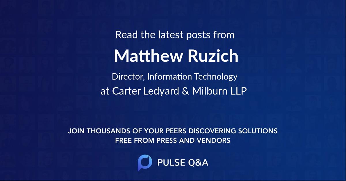 Matthew Ruzich