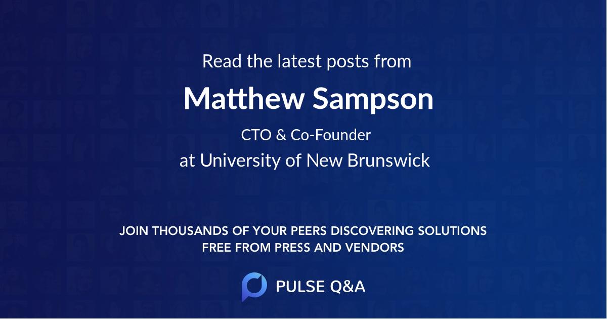 Matthew Sampson