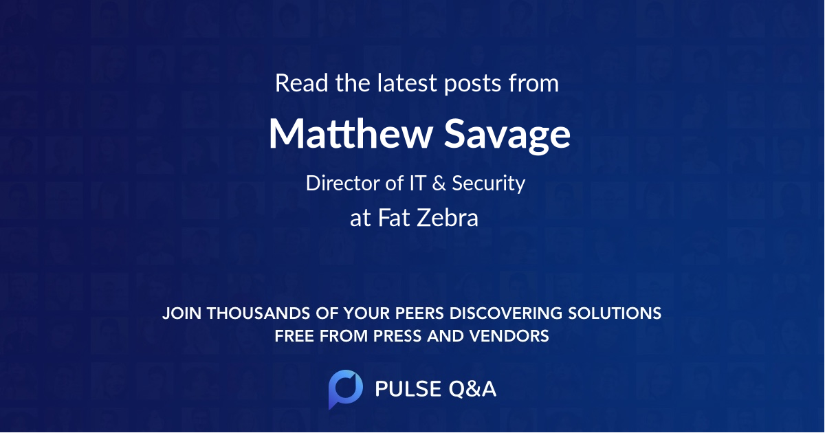 Matthew Savage