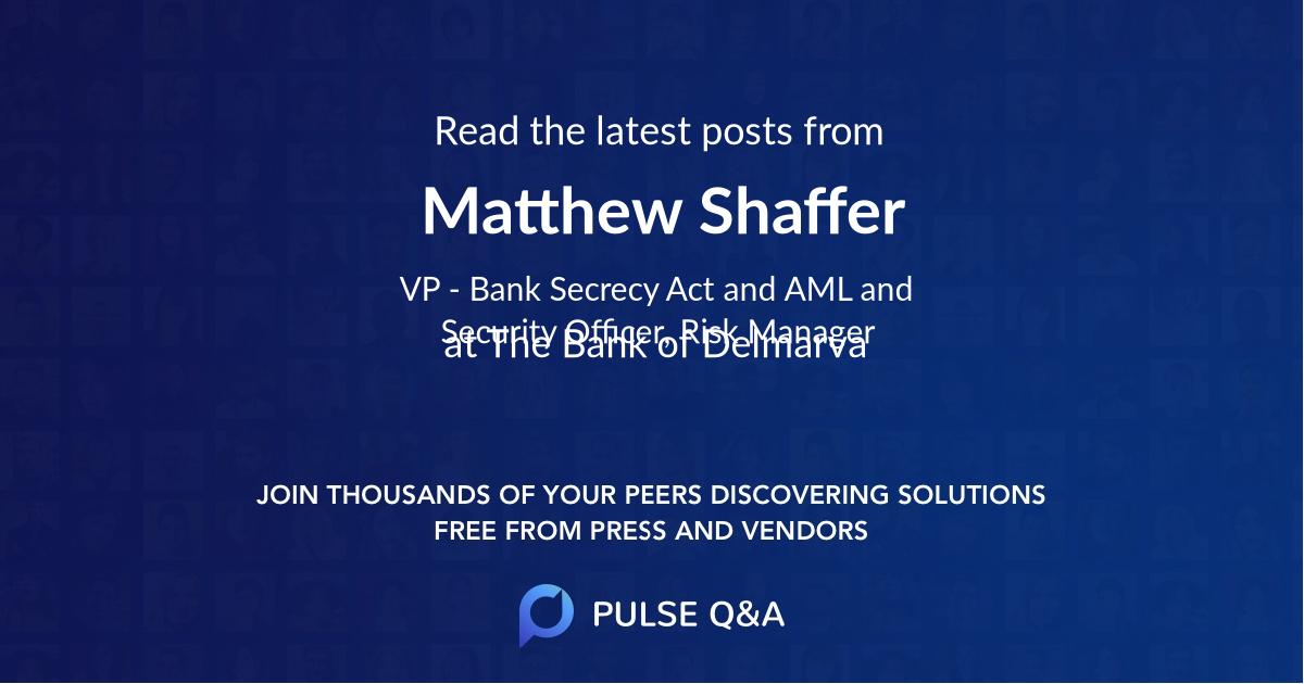 Matthew Shaffer