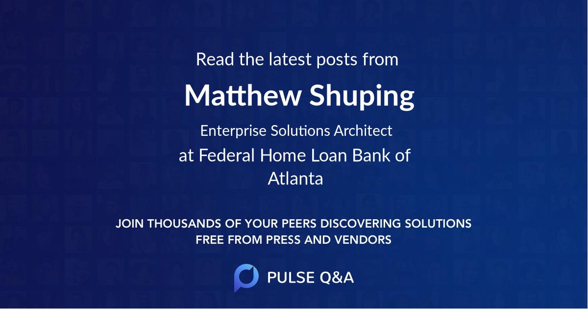 Matthew Shuping