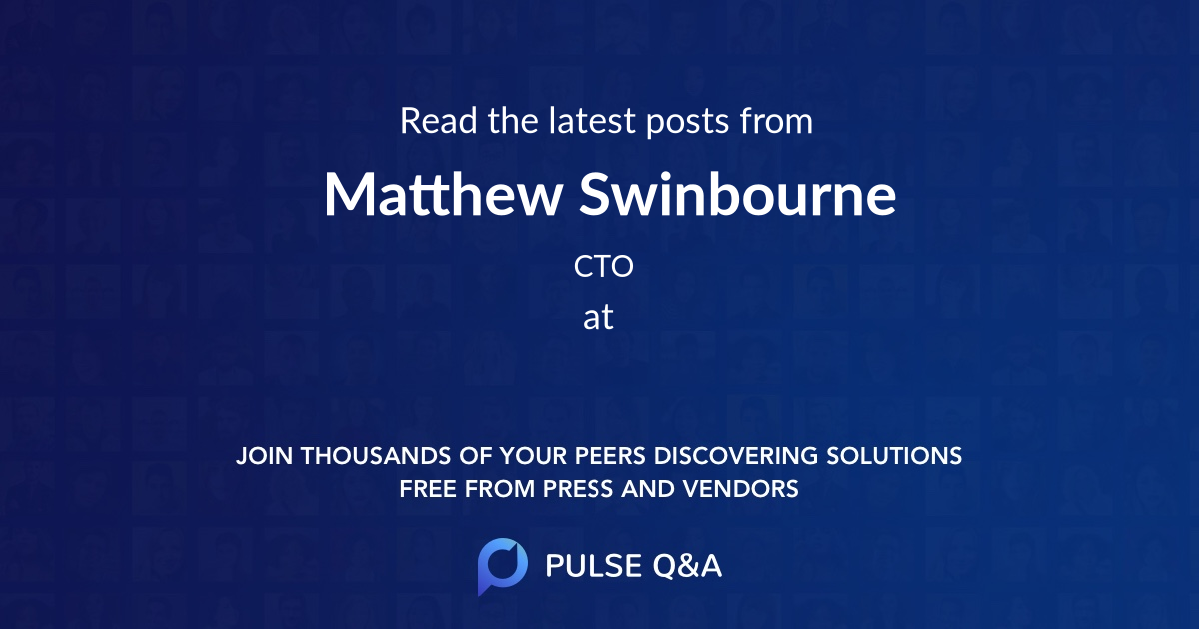 Matthew Swinbourne