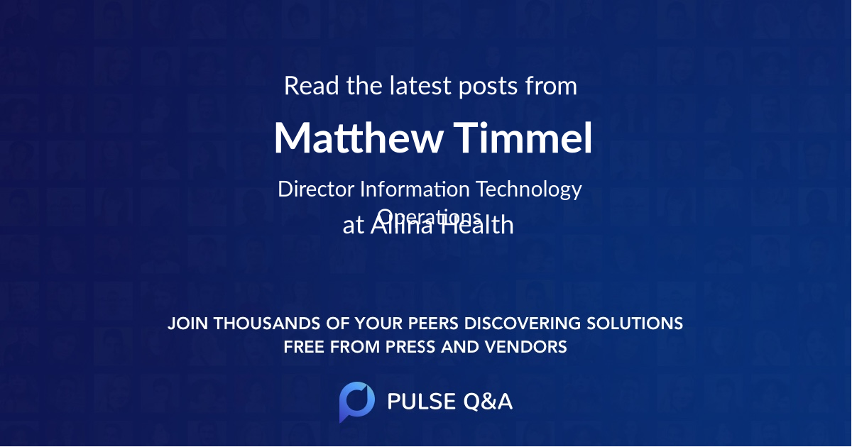 Matthew Timmel