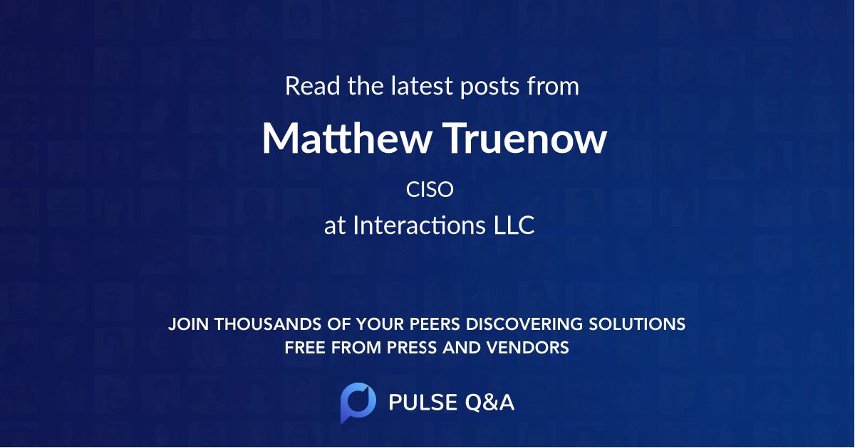 Matthew Truenow