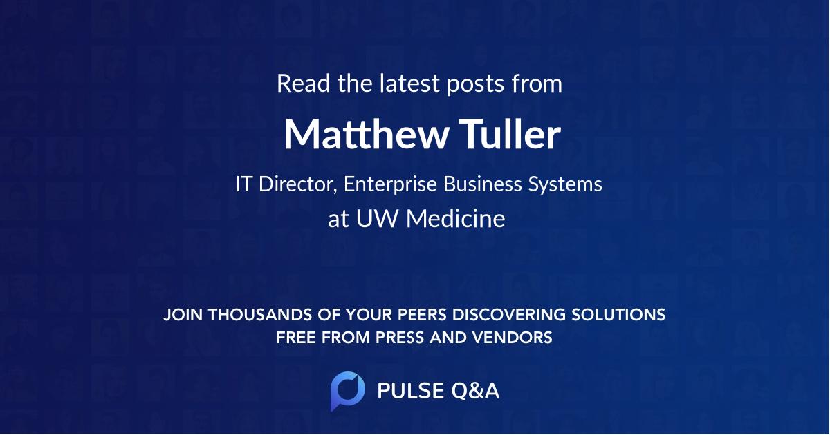 Matthew Tuller