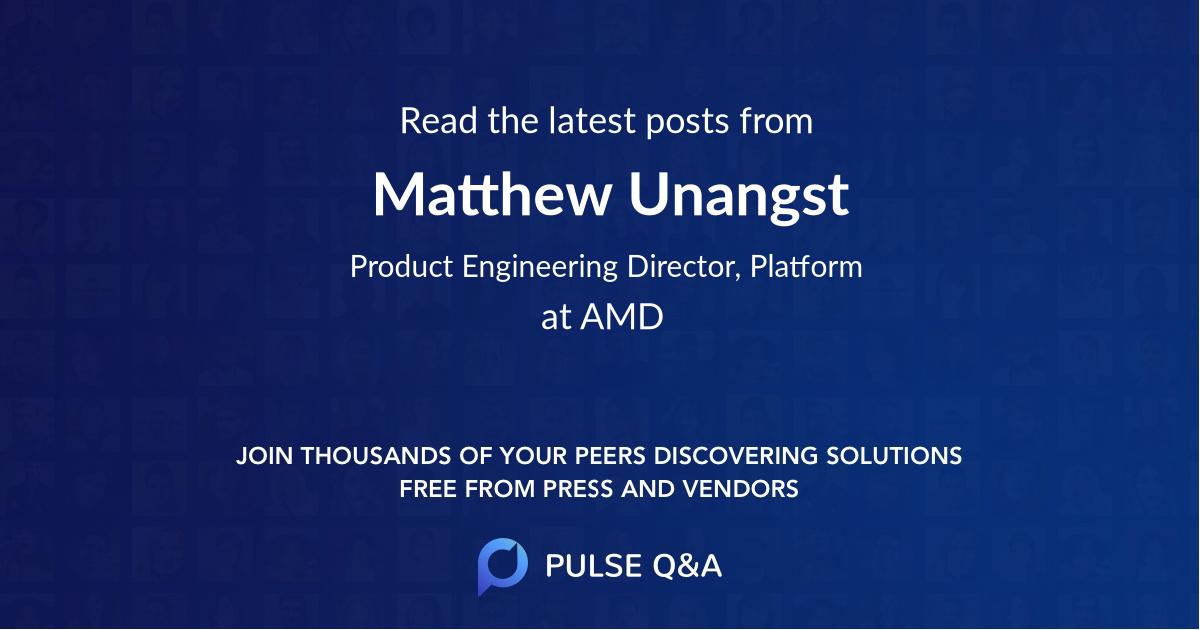 Matthew Unangst