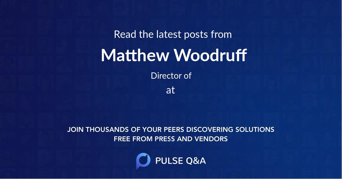 Matthew Woodruff