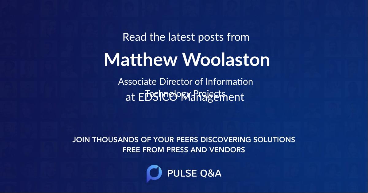 Matthew Woolaston