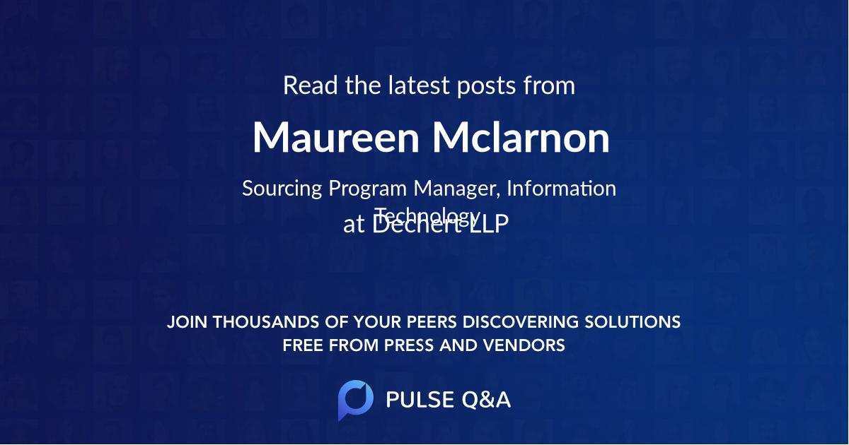 Maureen Mclarnon