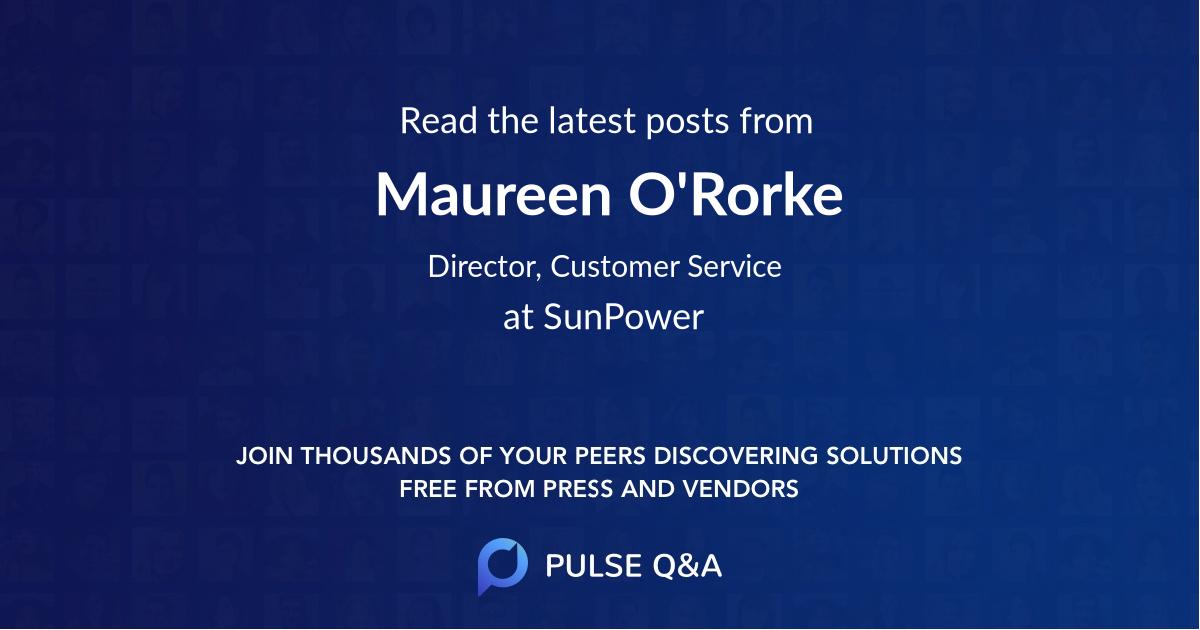 Maureen O'Rorke