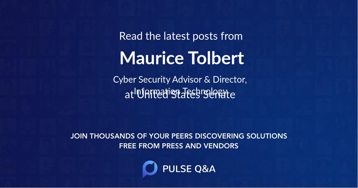 Maurice Tolbert