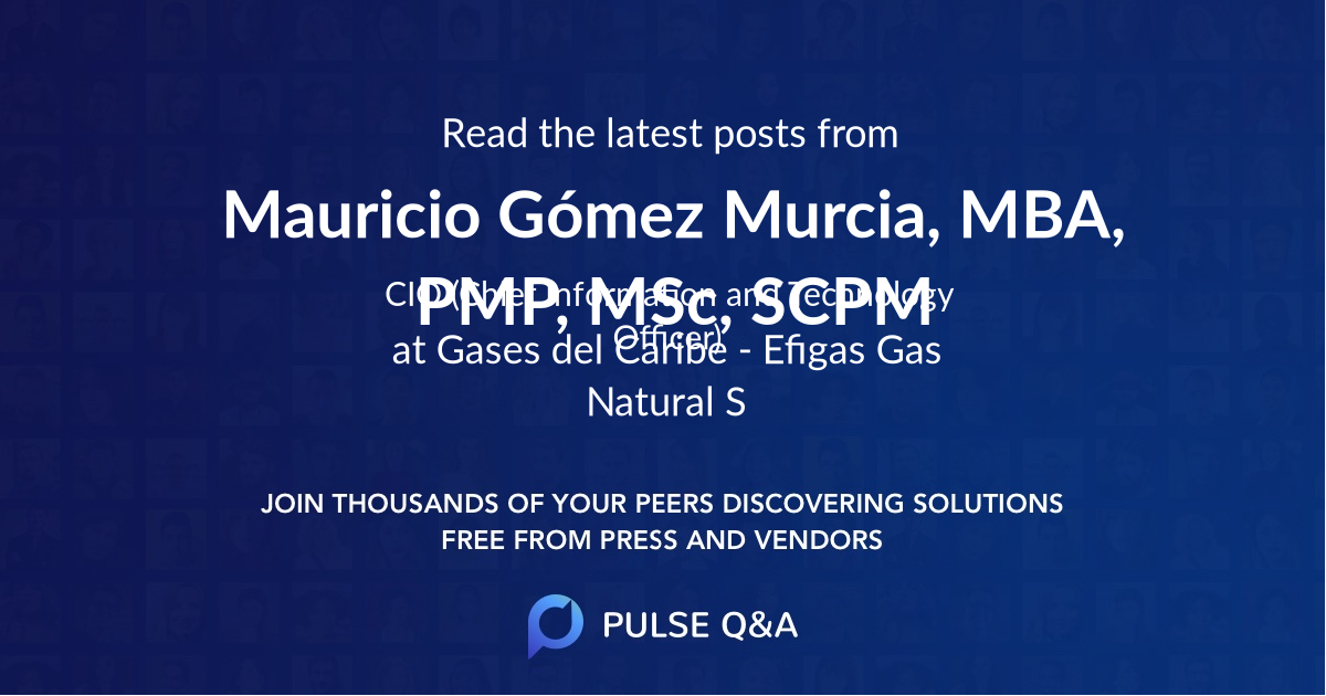 Mauricio Gómez Murcia, MBA, PMP, M.Sc, SCPM