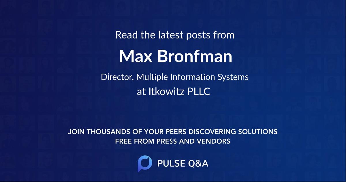 Max Bronfman