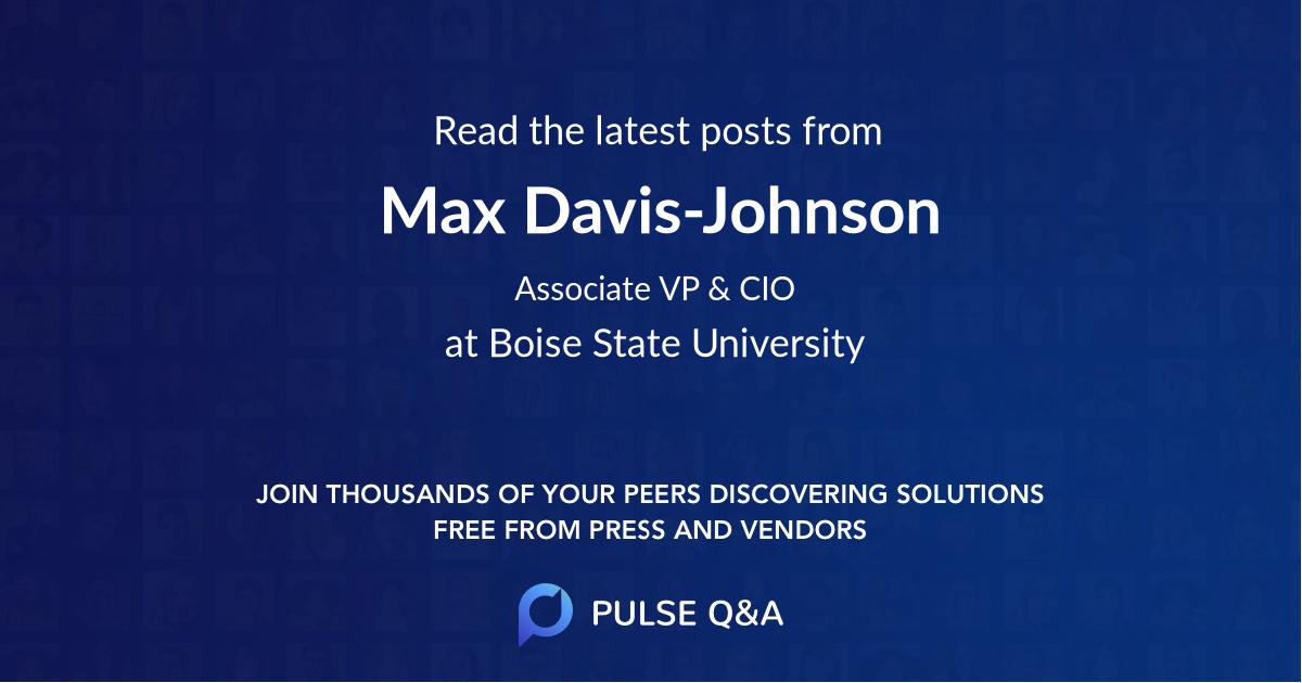 Max Davis-Johnson