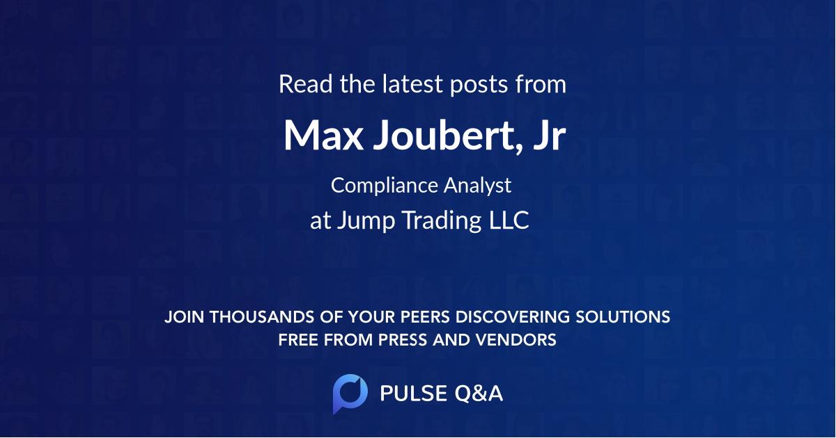 Max Joubert, Jr.