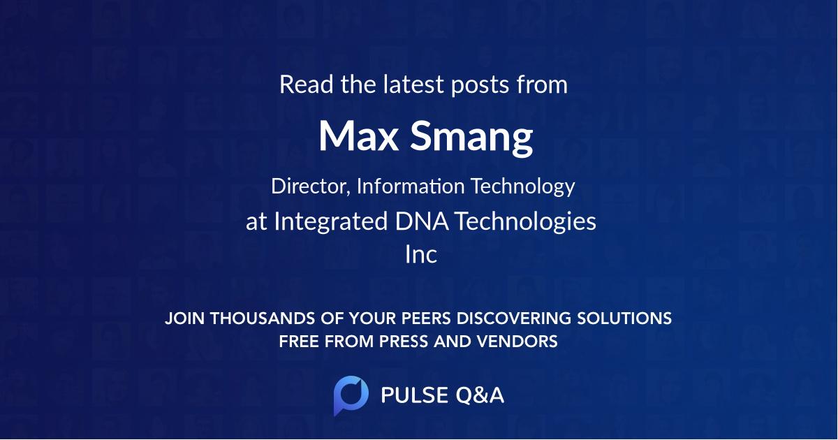 Max Smang