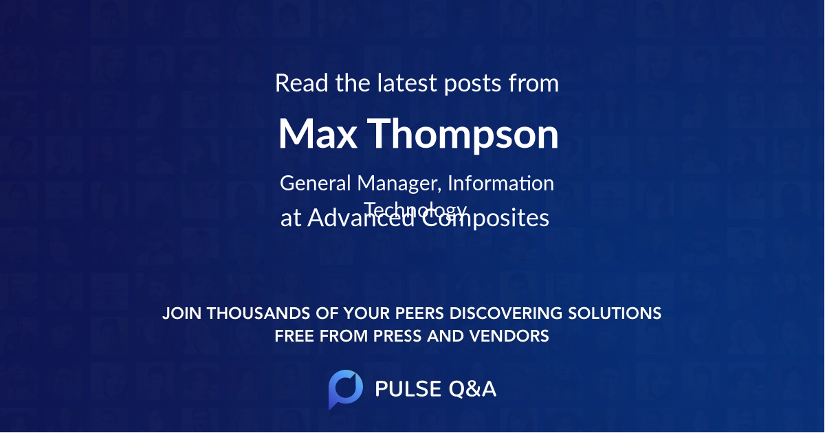 Max Thompson