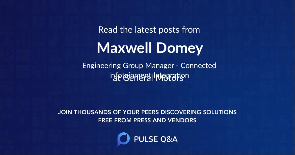 Maxwell Domey
