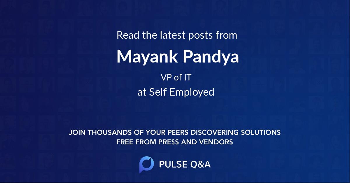 Mayank Pandya
