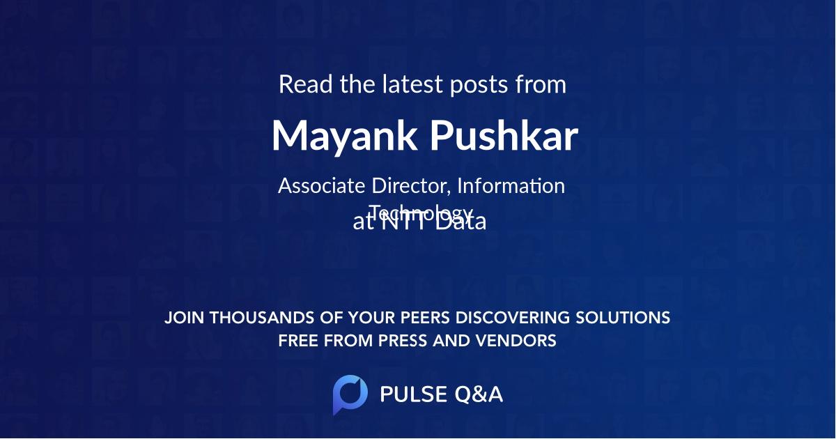 Mayank Pushkar