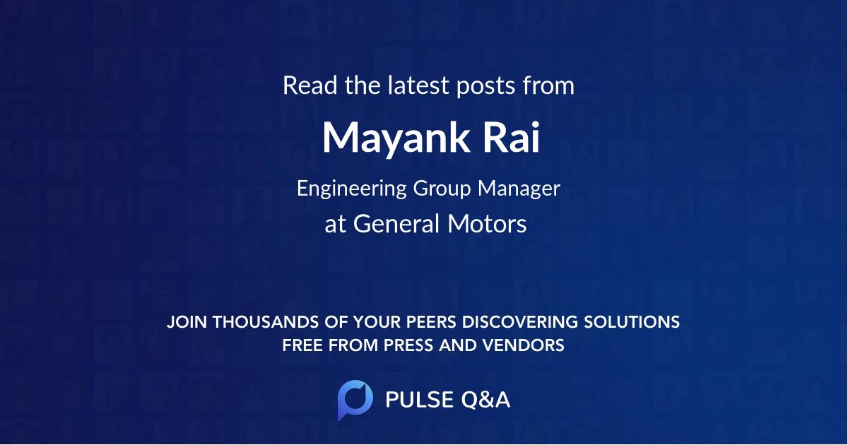 Mayank Rai