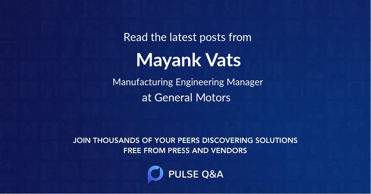 Mayank Vats