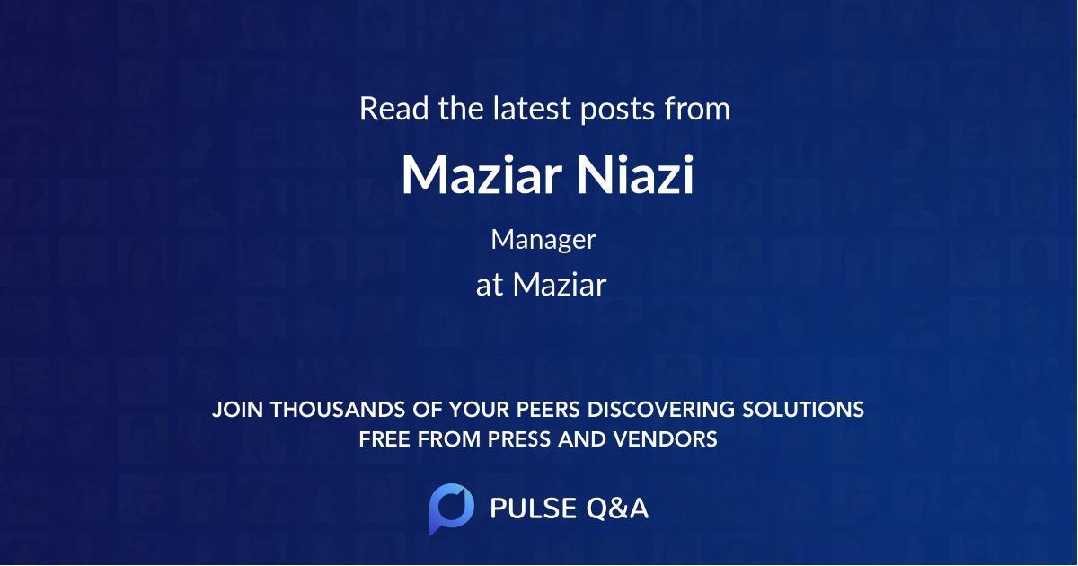 Maziar Niazi
