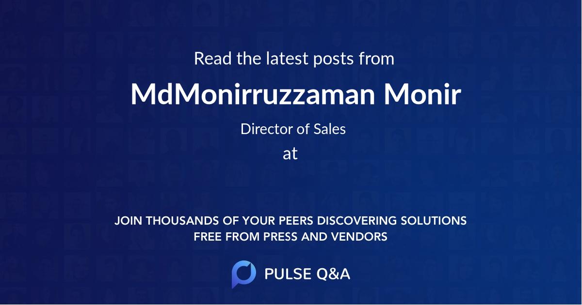 Md.Monirruzzaman Monir