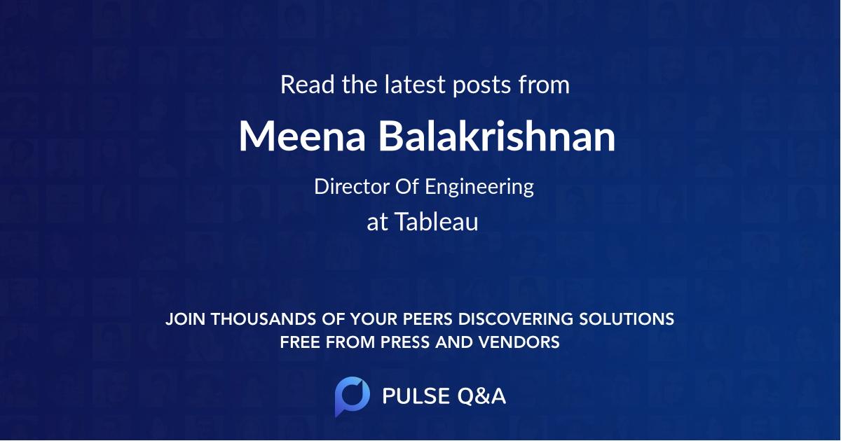 Meena Balakrishnan