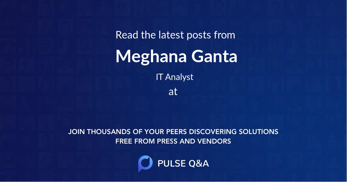 Meghana Ganta