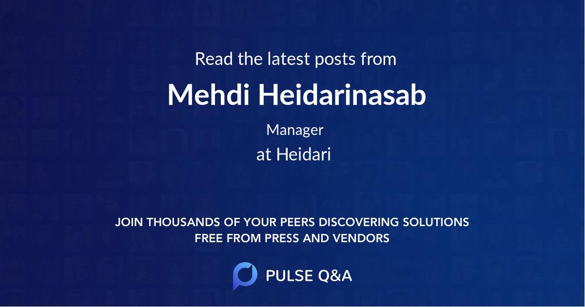 Mehdi Heidarinasab