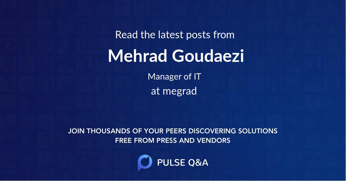Mehrad Goudaezi