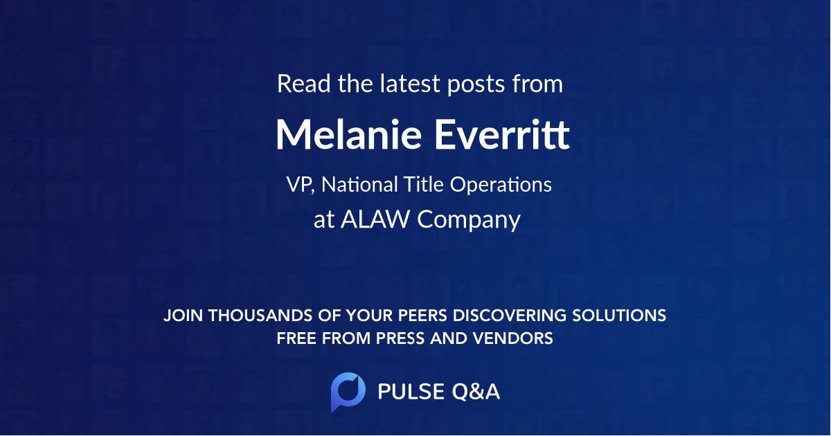 Melanie Everritt