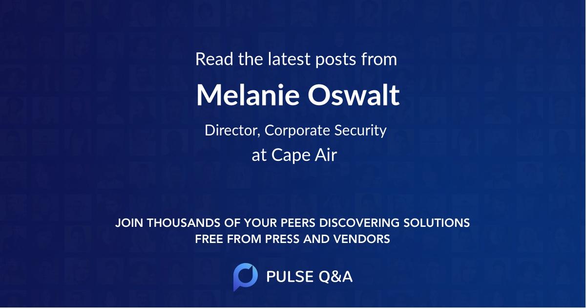 Melanie Oswalt