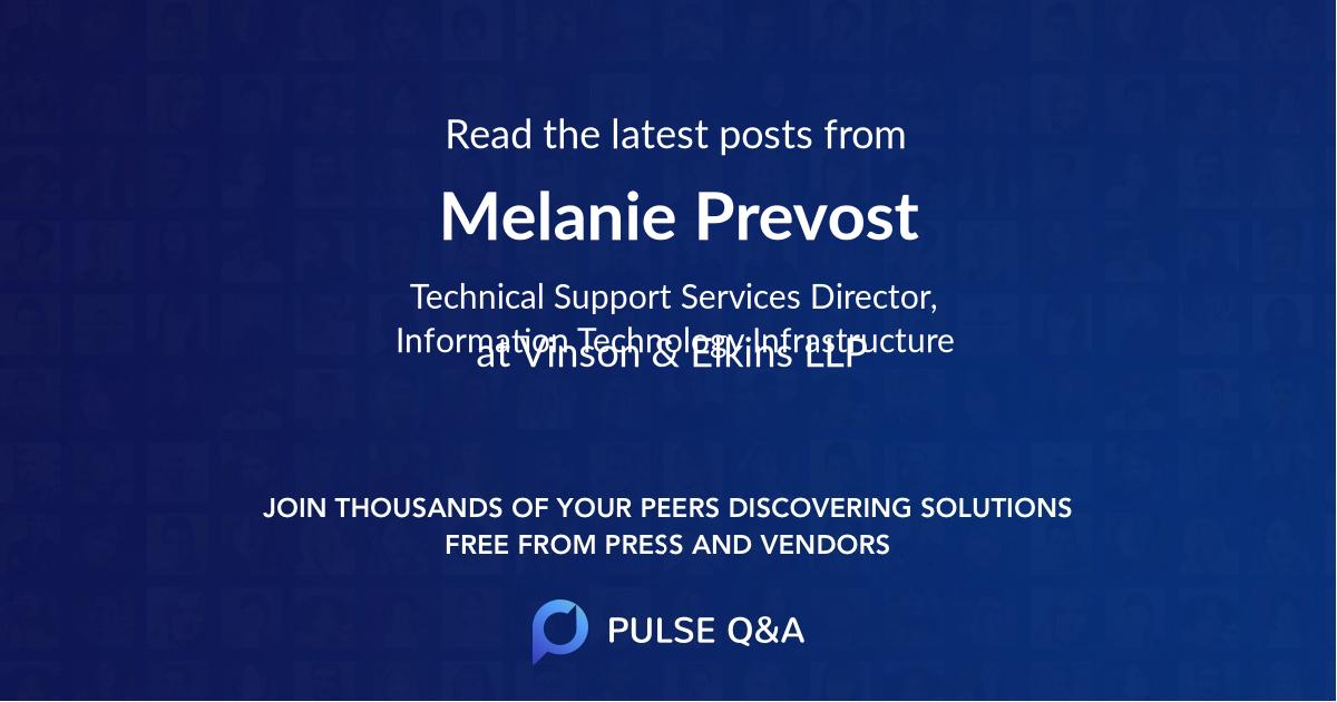 Melanie Prevost