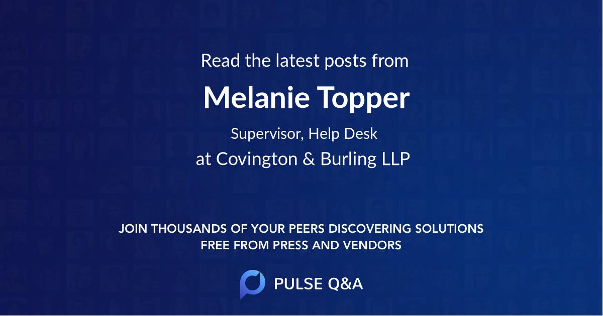 Melanie Topper
