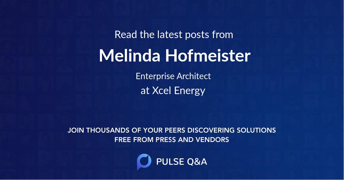Melinda Hofmeister