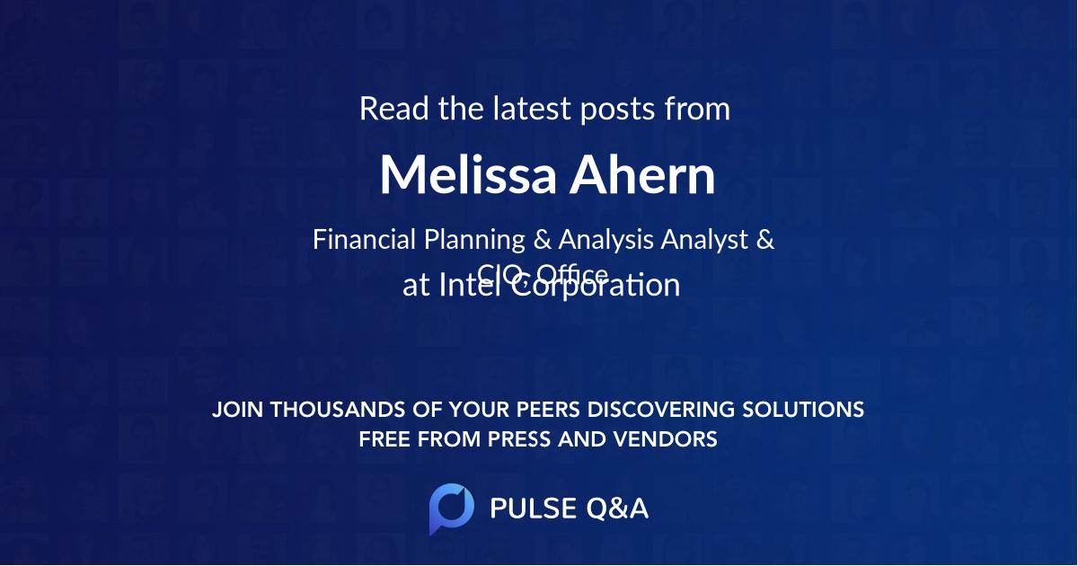 Melissa Ahern