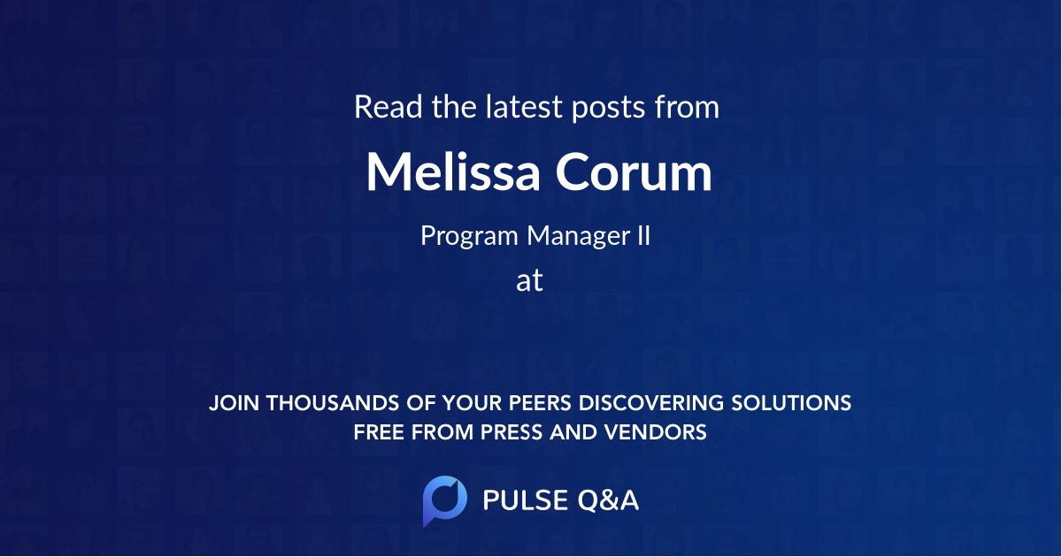 Melissa Corum
