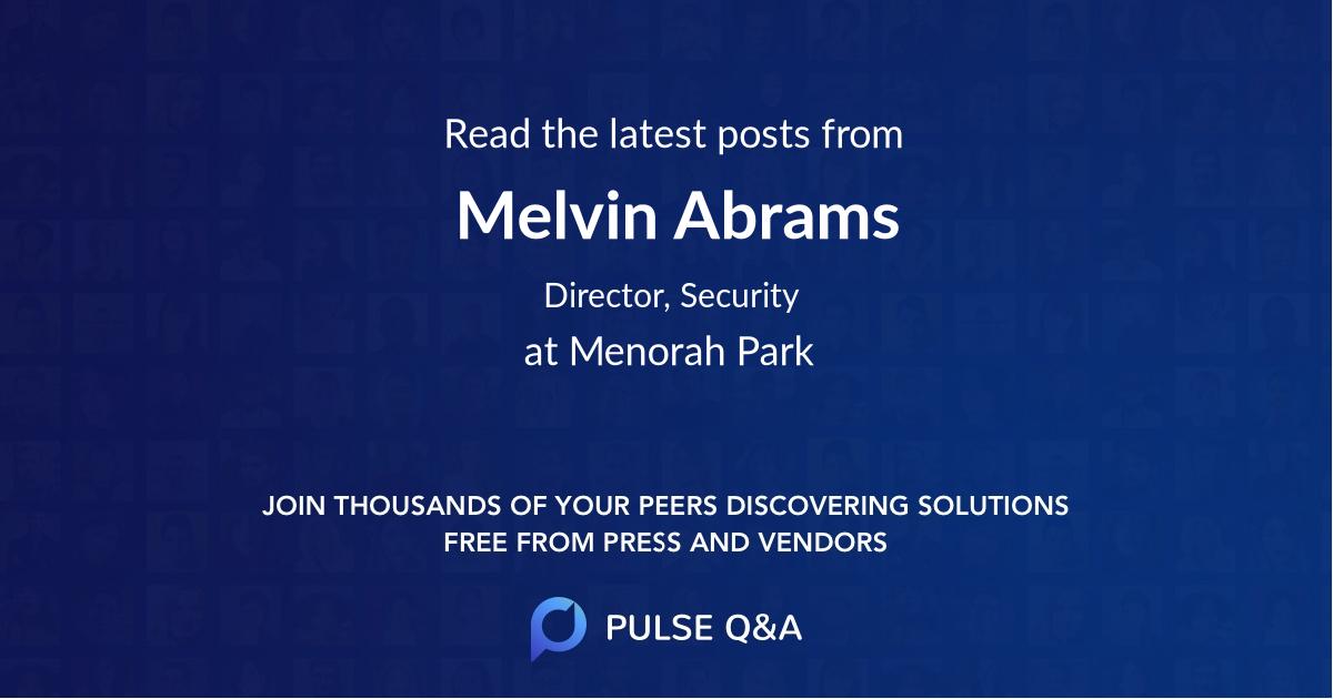 Melvin Abrams