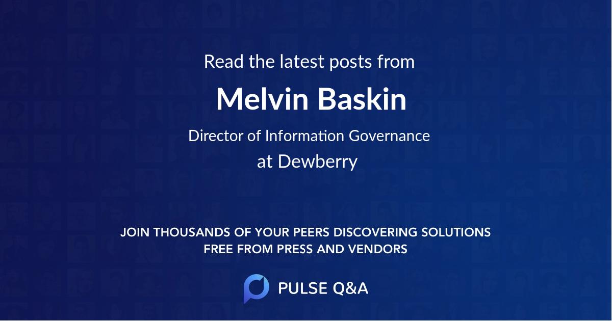 Melvin Baskin