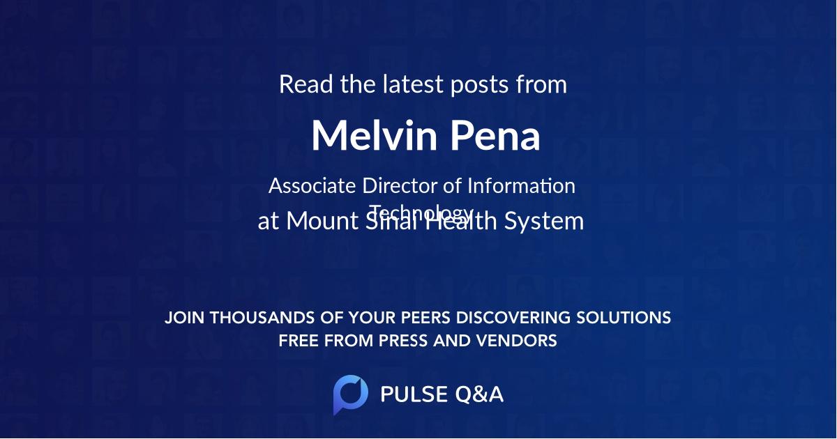 Melvin Pena