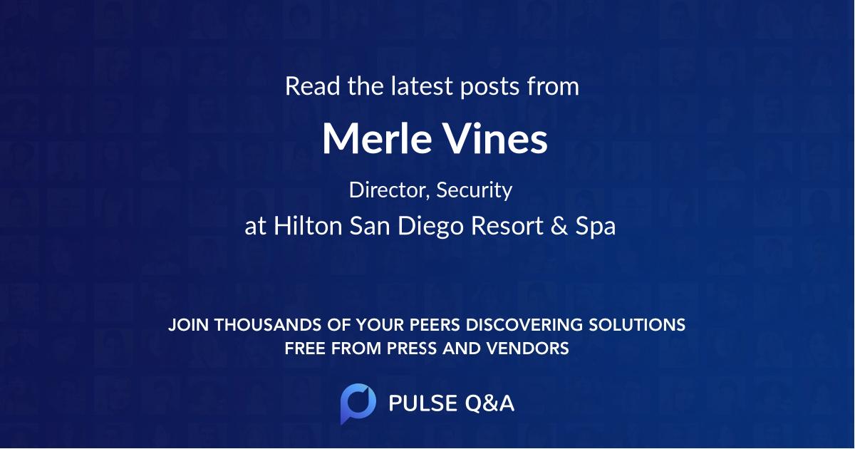 Merle Vines