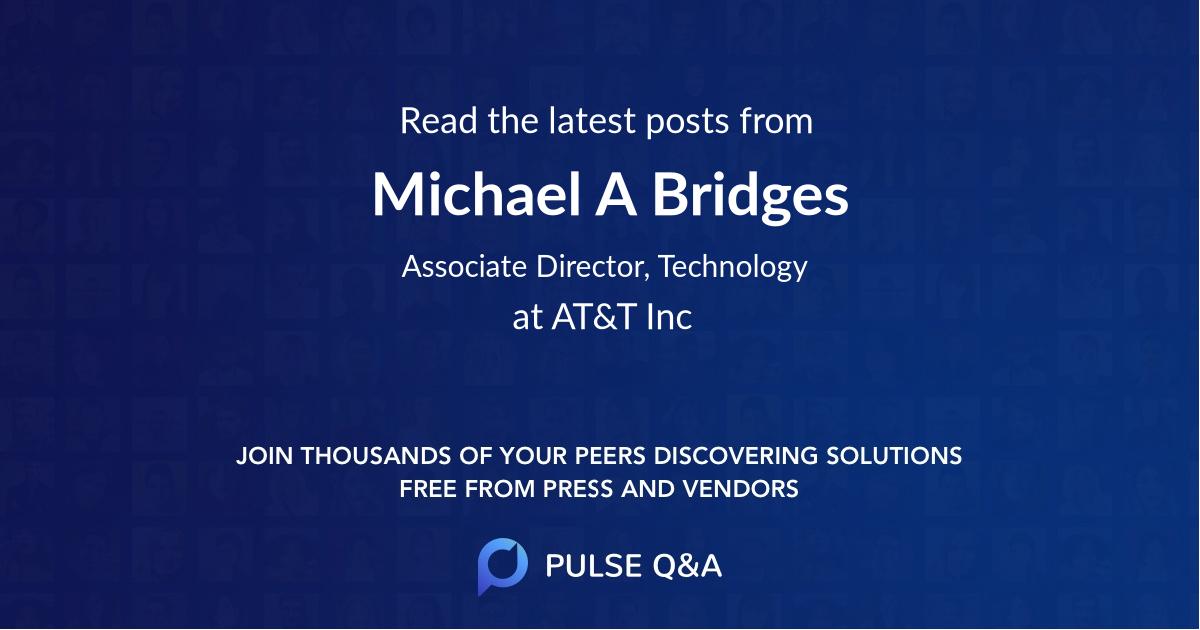 Michael A Bridges