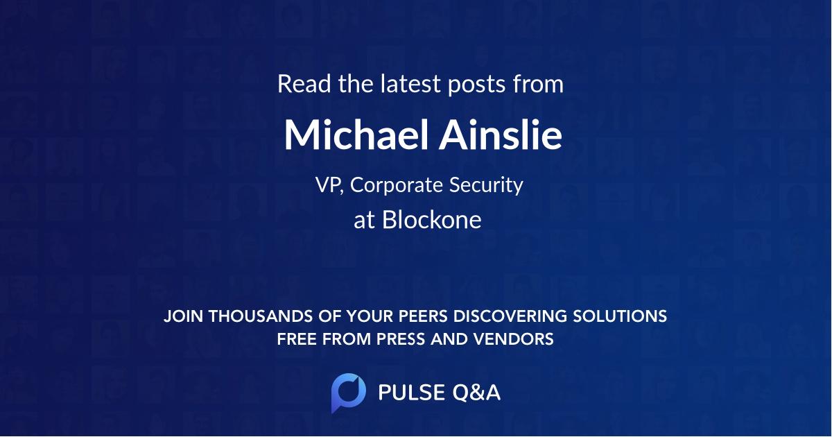 Michael Ainslie