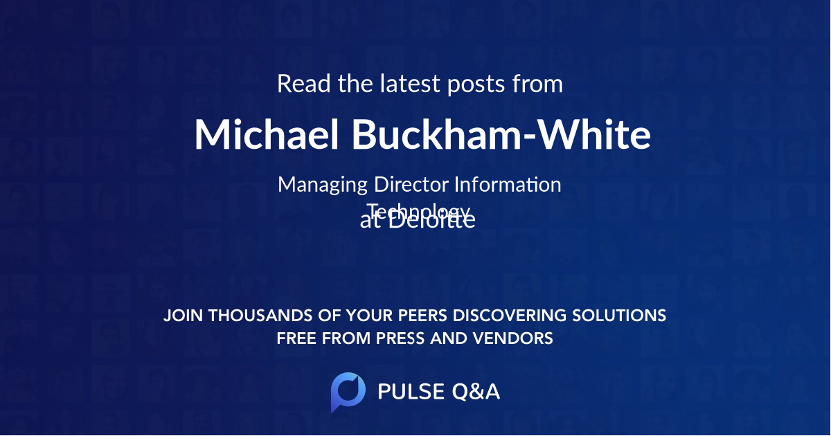 Michael Buckham-White