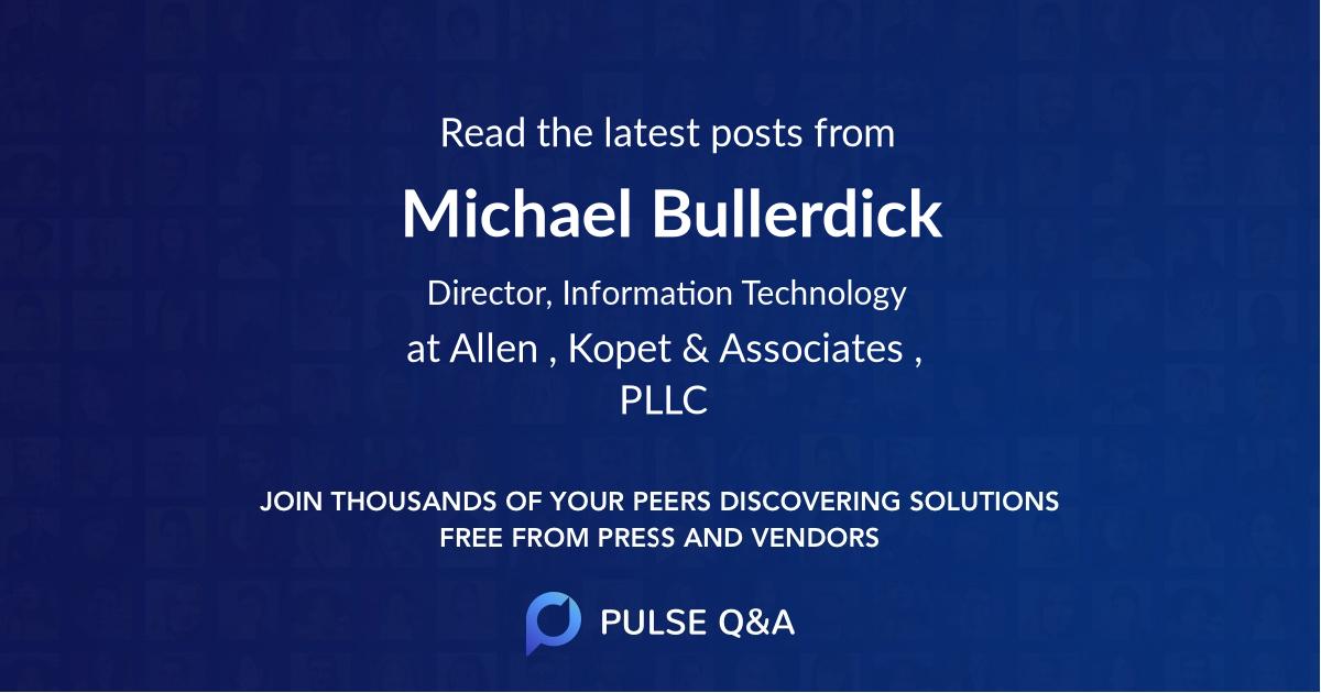 Michael Bullerdick