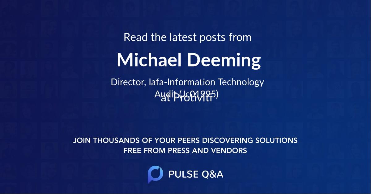 Michael Deeming