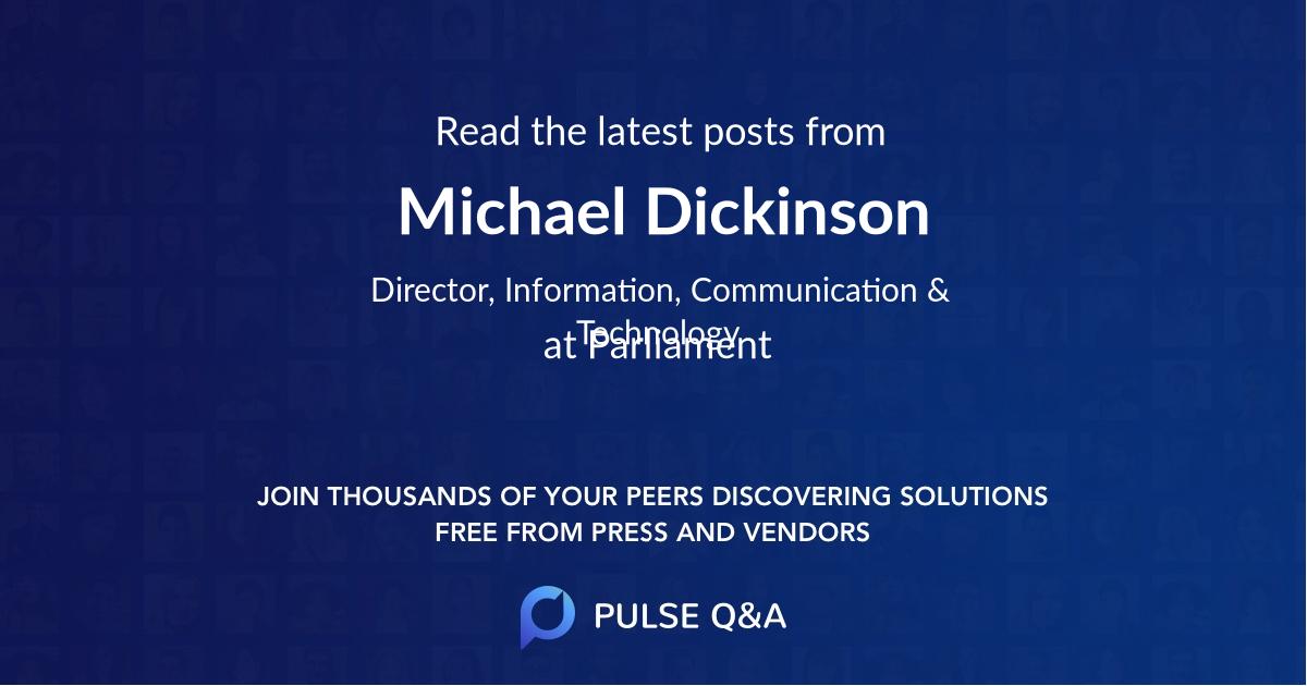 Michael Dickinson